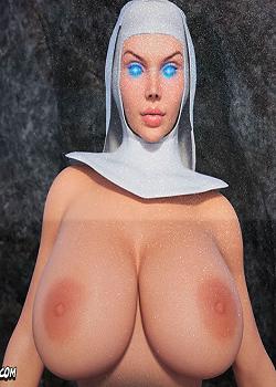 CrazyDad3D – White Nun 2