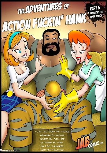Jab Comix – The Adventures of Action Fuckin Hank 01